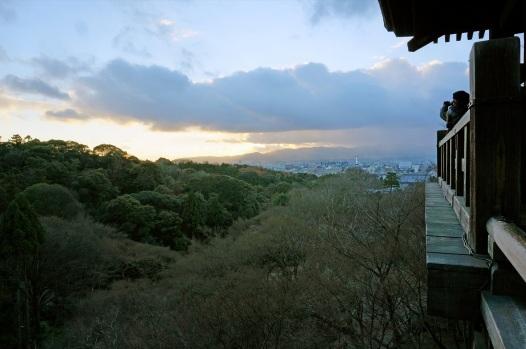 Kiyomizudera al tramonto
