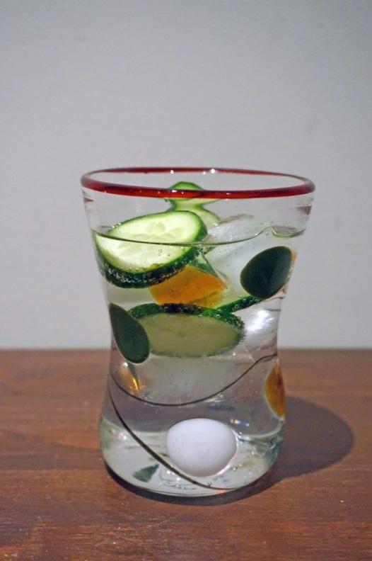 Hendricks gin with cucumber