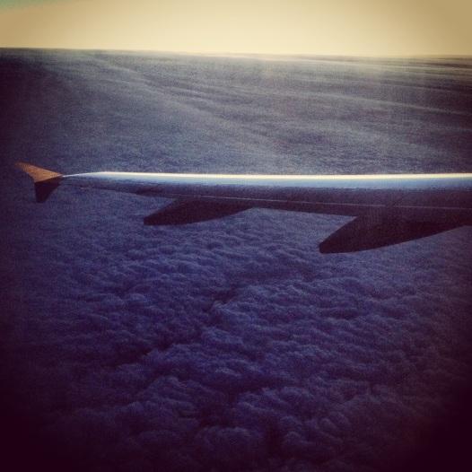Alba in volo tra Parigi e Roma