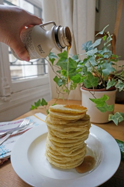 Saturday morning lemon poppy seed pancakes