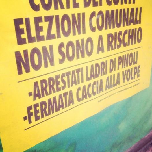 Dettagli di cronaca: i temibili ladri di pinoli del Chianti