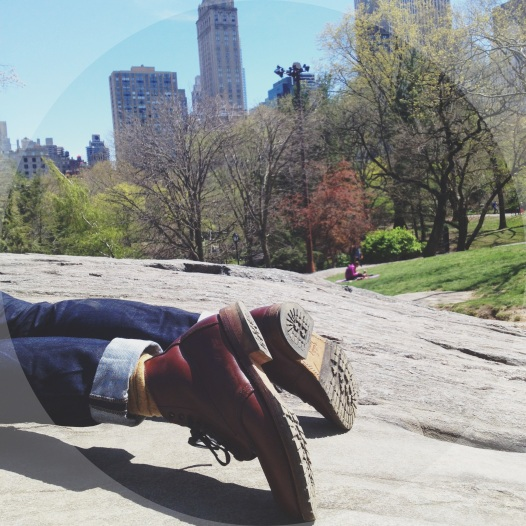 After lunch nap in Central Park