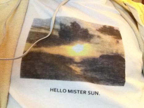 La mia benaugurante t-shirt di oggi