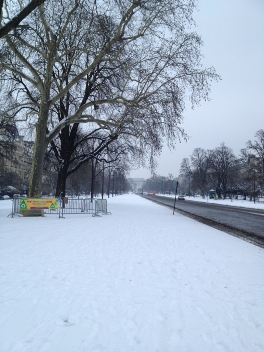 Avenue Foch, l'anno scorso sotto la neve