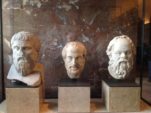 Busti di Platone, Aristotele e Socrate