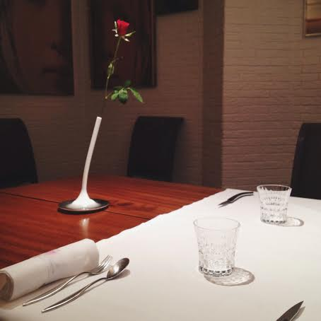 Roses at the restaurant