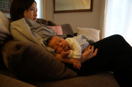 Resting with mommy