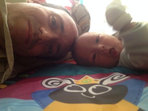 Daddy and Saku's selfie